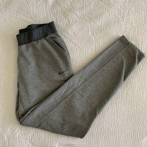 Tapered Gray Nike Logo Band Sweats
